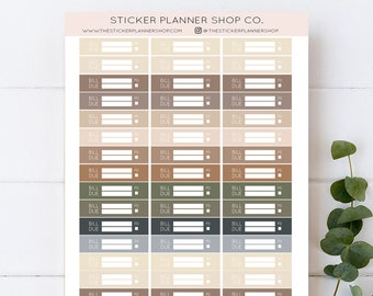 Bill Due Planner Stickers - 51 Stickers