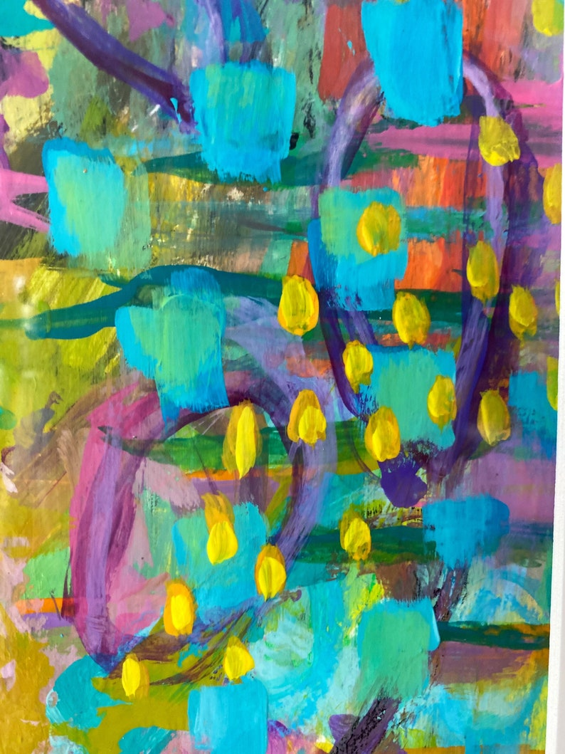 Springtime Abstract Acrylic Painting