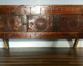 Antique Tribal Dowry Chest. Circa 1900