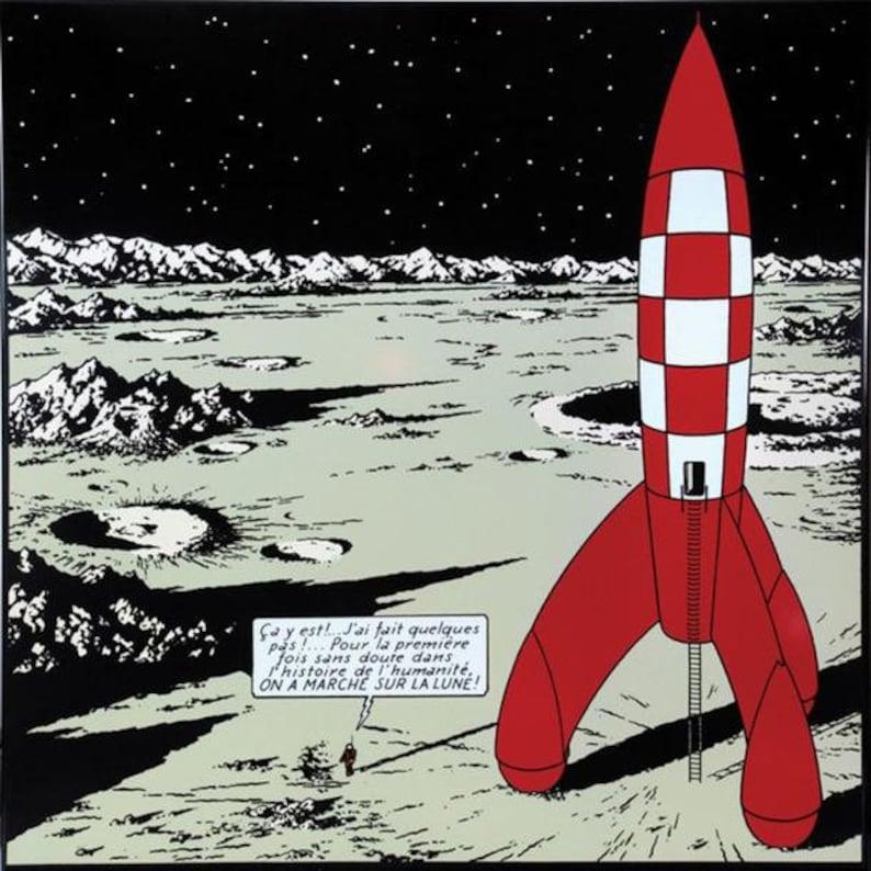 TinTin Rocket Model wood image 2