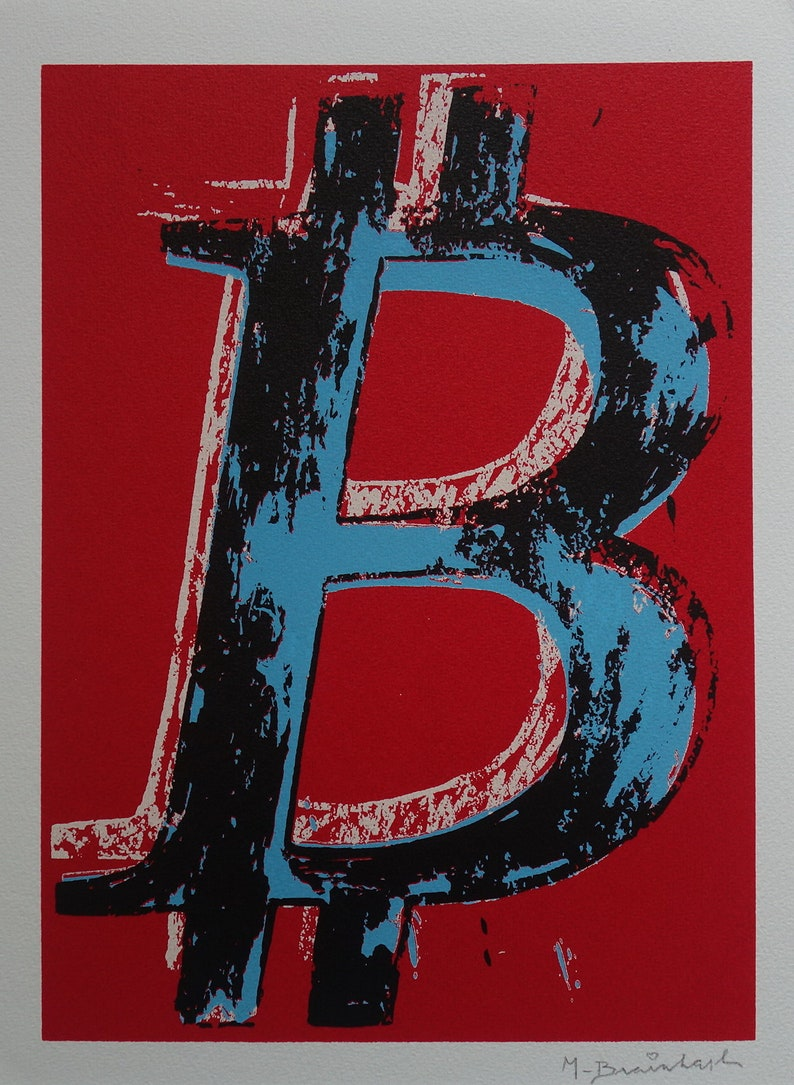 Limited edition Pop Art Graffiti Bitcoin silkscreen serigraph image 0