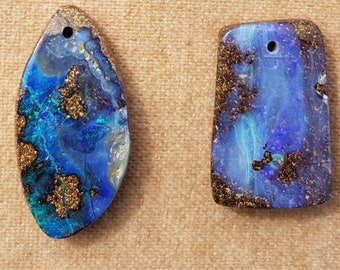 Lapidary Shop Freeform Natural Boulder Opal Cabochon Jewelry Supply 17.1 ct Natural Australian Opal Handmade in Oregon USA