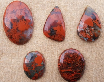 Red Jasper Abstract Carving Freeform Cabochon