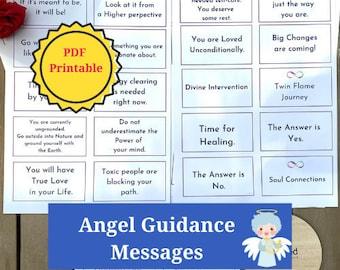 Angel Guidance Channeled DIGITAL Messages: PDF PRINTABLE cards, Instant Download