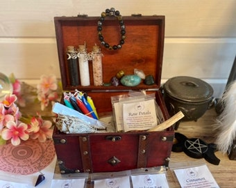 HUGE Witchcraft Kit: White Sage, 25 Herbs, Candles, Crystals, Witch supplies, Pagan, Spells, White Magick