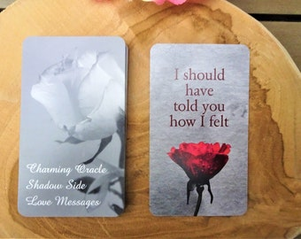 PRE-ORDER Charming Shadow Side Love Messages, Twin Flames, Twin Flame messages, Love notes, Oracle Cards