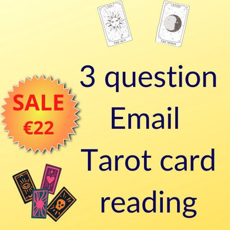 Tarot card reading by email: Up to 3 questions image 1