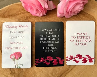 IN STOCK Dark Side Light Side Messages from the Heart, Twin Flames, Love notes, Oracle deck, Love messages