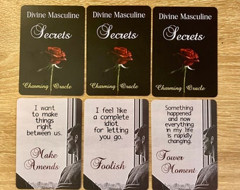 PRE-ORDER Divine Masculine Secrets: Twin Flames, Twin Flame messages, Love notes, Soulmate, Oracle cards, Twin Flame oracle