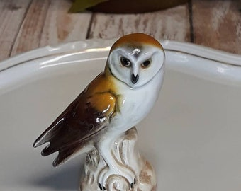 Vintage Pair of Goebel White Owl Creamers Made in W.Germany