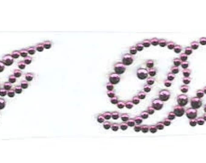 i do purple crystal  pair of shoe stickers easy to apply