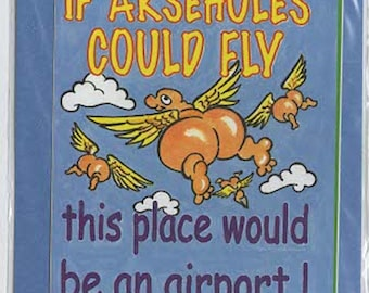 if xxx could fly slapstick funny stickers pack of 1 (as shown) self adhesive fun stickers