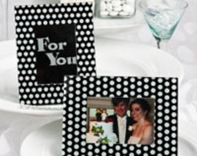 Black And White Polka Dot Photo Frame
