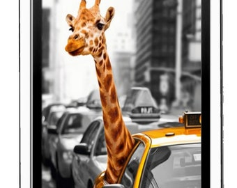 new york giraffe  handmade in uk from uk made parts, fridge magnet