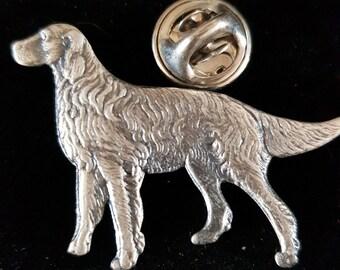standing dog pin badge english pewter lapel Badge / tie pin,