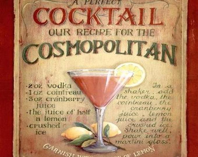 cosmopolitan recipe, coaster, made in uk drinks, plate  etc coaster stock code 3