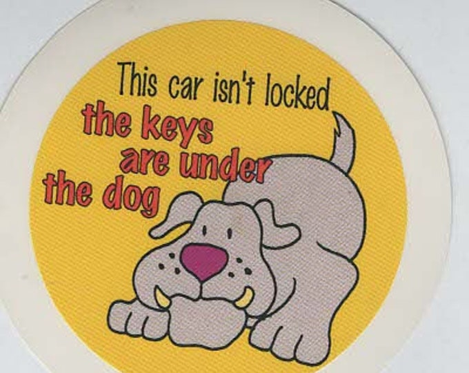 pack of 1 dog joke stickers 8cm approx (as shown) self adhesive fun stickers