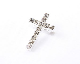 A Beautiful Rhinestone Cross Brooch   sparkling beauty with safety cross clip on back, comes gift boxed