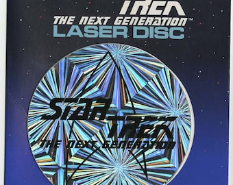 laser disc star trek the next generation new unused see photos.(very rare) holographic spinner