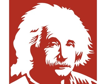 einstein very detailed decal vinyl car, boat, house, crafts, signs