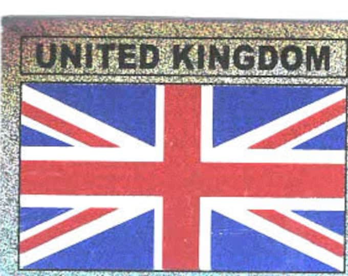 pack of 1 uk union flag stickers 8x5cm approx (as shown) self adhesive fun stickers