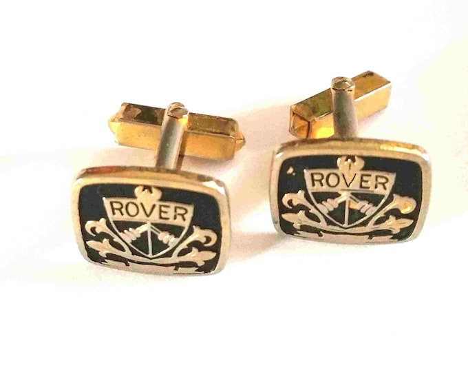 rover cars antique cufflinks 1 set only good condition see photos.(very rare)