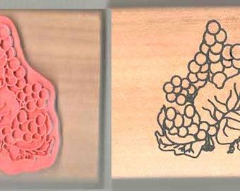 wooden rubber stamp berries new ideal papercraft,tool,lots of other crafts. Wood