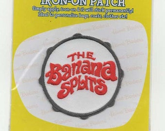 the banana splits  embroidered iron / sew on patch sealed pack from the 1970s