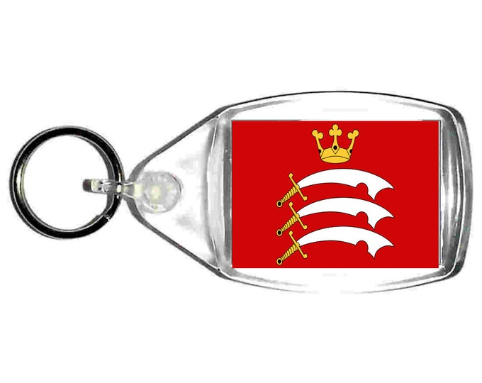 middlesex Flag uk county keyring  handmade in uk from uk made parts, keyring