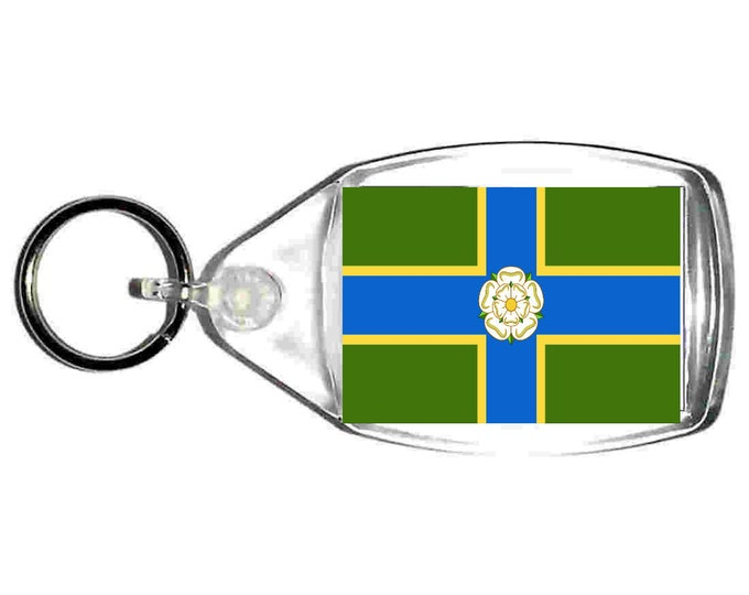 North Riding (Yorkshire) Flag uk county keyring  handmade in uk from uk made parts, keyring