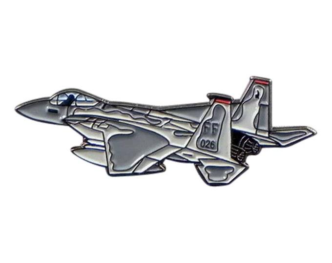 F15 Military War Aeroplane War Plane  tie pin, Lapel Pin Badge, in giftbox