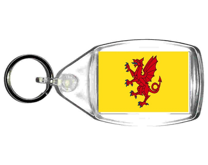somerset Flag uk county keyring  handmade in uk from uk made parts, keyring