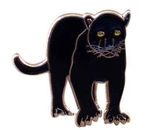 Black Panther Zoo / wild Animal lapel pin,tie pin in gift box