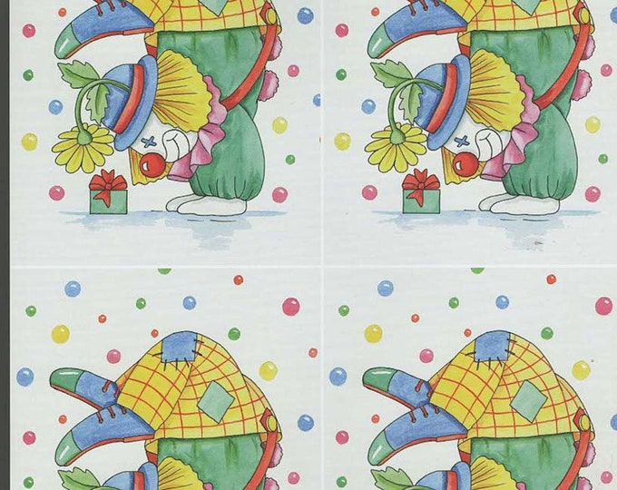 clown2 style decoupage sheet high quality printed on quality paper