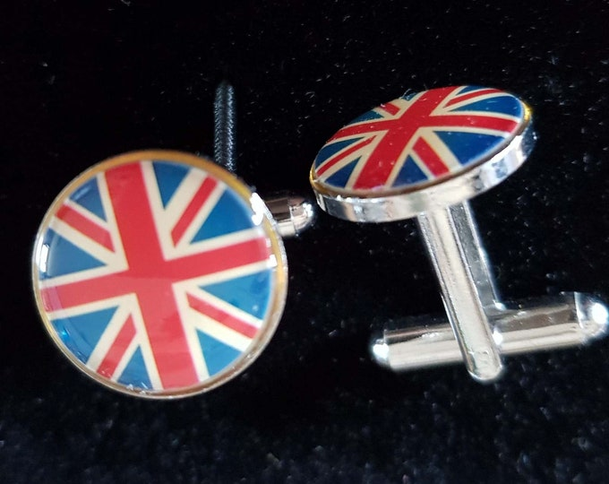 uk flag design Cufflinks cuff links in gift box the red white and blue  GB union flag