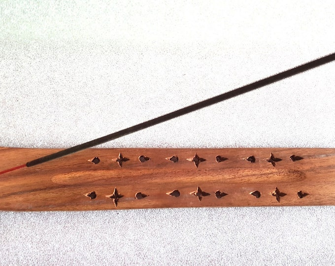 long insence holder ideal for sticks or cones these are made to order plus 10  mixed sticks for free