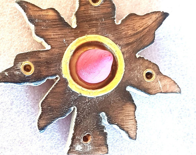 leaf design insence holder ideal for cones and sticks  made to order with 10 free cones