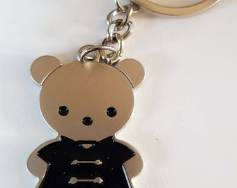 teddy in suit metal keychain keyring  ideal gift