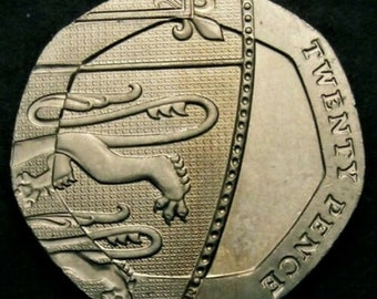 2008 Choice UNC Undated No Date Mule Twenty Pence 20p Error Coin