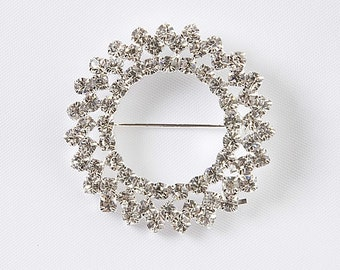 A Beautiful Diamante Brooch  sparkling beauty with safety cross clip on back, comes gift boxed