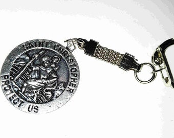 saint christopher medallion keyring design keyring, key chain keyring, keyfob