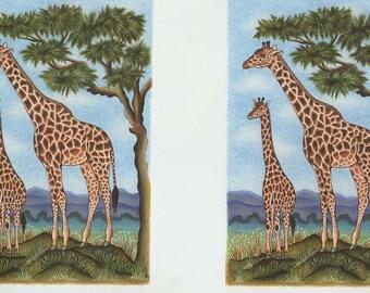 giraffe decoupage sheet high quality print on 120gsm paper ideal cards etc