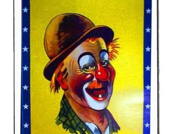 large clown 1 fridge magnet  handmade in uk from uk made parts, fridge magnet 73x51