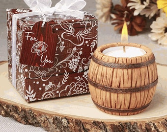 Wine Barrel Candle gift boxed