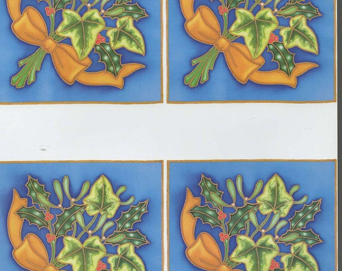 christmas holly decoupage sheet high quality printed on quality paper ideal card