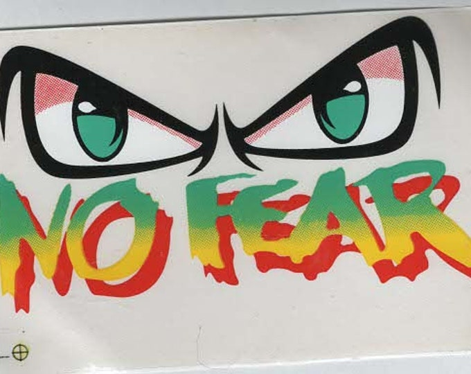 pack of 1 no fear stickers 13x8cm approx (as shown) self adhesive fun stickers