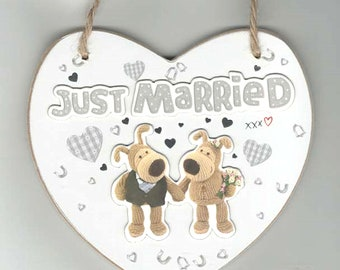 licensed boofle plaque just married limited number available