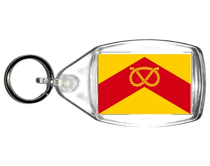 staffordshire Flag uk county keyring  handmade in uk from uk made parts, keyring