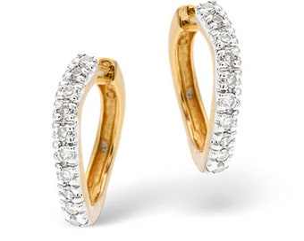 9K Gold plus Diamond  Earrings
