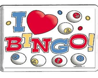 i love bingo fridge magnet  handmade in uk from uk made parts, fridge magnet